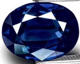 IGI Certified Kashmir Blue Sapphire, 3.90 Carats, Deep Royal Blue Oval