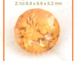 CERTIFIED Bright Fanta  Orange Spessartine Garnet, Namibia A126 H673