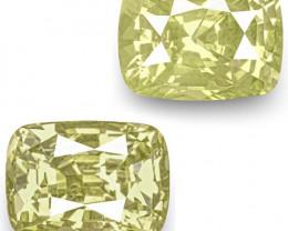 GIA Certified Sri Lanka Yellow Sapphires, 7.77 Carats, Lustrous Yellow