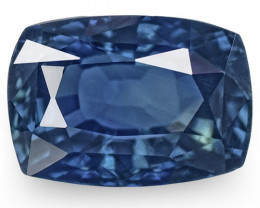 GRS Certified Nigeria Blue Sapphire, 2.74 Carats, Deep Blue Cushion