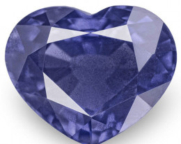 GIA Certified Madagascar Sapphire, 2.90 Carats, Deep Blue Heart