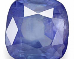 AIGS Certified Sri Lanka Blue Sapphire, 3.54 Carats, Deep Blue Cushion