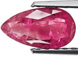 Madagascar Ruby, 1.18 Carats, Dark Pink Pear