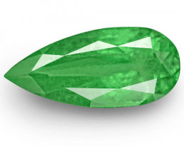 Colombia Emerald, 2.78 Carats, Bright Green Pear