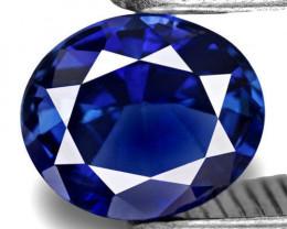 IGI Certified Sri Lanka Blue Sapphire, 0.73 Carats, Ink Blue Oval
