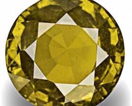 IGI Certified Madagascar Yellow Sapphire, 5.16 Carats, Round