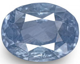 IGI Certified Burma Blue Sapphire, 5.40 Carats, Medium Blue Oval