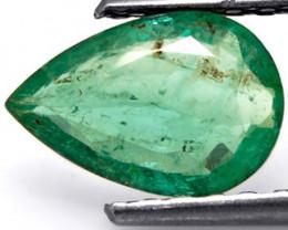 Zambia Emerald, 1.13 Carats, Vivid Green Pear