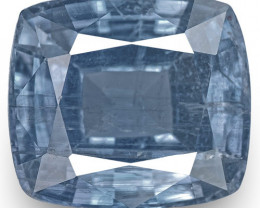 GIA Certified Madagascar Blue Sapphire, 5.64 Carats, Intense Blue Cushion