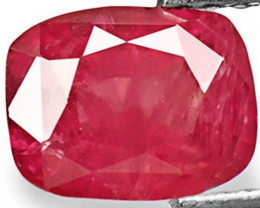 IGI Certified Vietnam Ruby, 2.32 Carats, Dark Pinkish Red Cushion