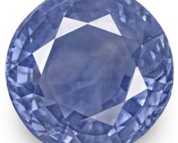 AIGS Certified Sri Lanka Blue Sapphire, 8.03 Carats, Intense Blue Round