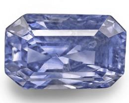 IGI & GII Certified Sri Lanka Blue Sapphire, 6.60 Carats, Violetish Blue