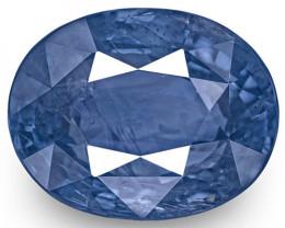 GIA Certified Sri Lanka Blue Sapphire, 8.61 Carats, Velvety Deep Blue Oval