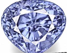 GIA Certified Sri Lanka Blue Sapphire, 3.50 Carats, Fiery Vivid Blue Heart