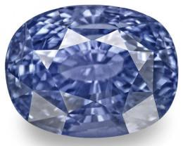 GIA Certified Sri Lanka Blue Sapphire, 5.52 Carats, Lustrous Blue Cushion