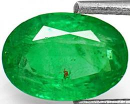 Zambia Emerald, 1.50 Carats, Intense Green Oval