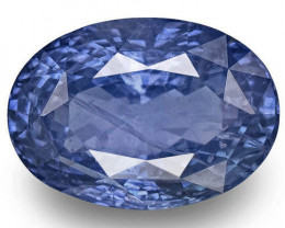AIGS Certified Sri Lanka Blue Sapphire, 14.85 Carats, Intense Blue Oval