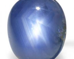 Burma Blue Star Sapphire, 1.63 Carats, Dark Blue Oval