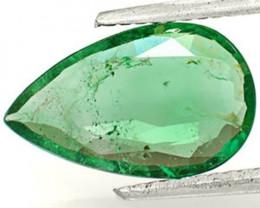 GII Certified Zambia Emerald, 2.05 Carats, Lustrous Intense Green Pear