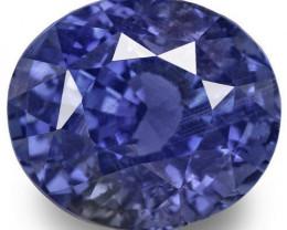 GRS Certified Sri Lanka Blue Sapphire, 3.56 Carats, Deep Blue Oval