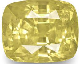 GIA Certified Sri Lanka Yellow Sapphire, 7.63 Carats, Yellow Cushion