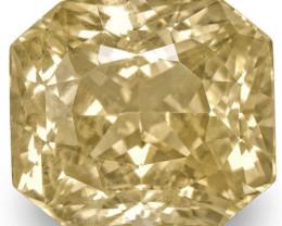 GIA Certified Sri Lanka Yellow Sapphire, 11.58 Carats, Emerald Cut