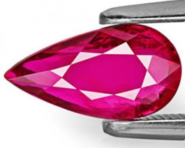 GRS Certified Mozambique Ruby, 2.01 Carats, Magenta Red Pear