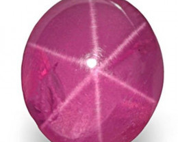 Burma Star Ruby, 0.73 Carats, Deep Pink Oval
