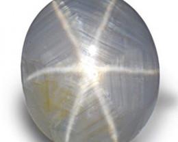AIGS Certified Sri Lanka Fancy Sapphire, 3.74 Carats, Grey Oval