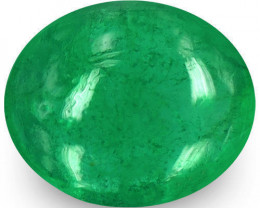 Zambia Emerald, 0.90 Carats, Intense Green Oval