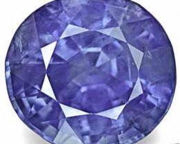 IGI Certified Sri Lanka Blue Sapphire, 3.28 Carats, Velvety Cornflower Blue