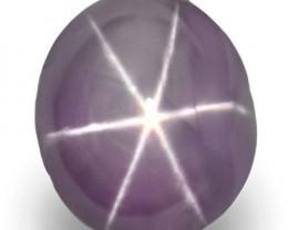 Sri Lanka Fancy Star Sapphire, 6.42 Carats, Greyish Violet Oval