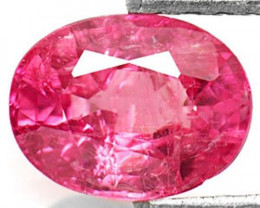 IGI Certified Burma Ruby, 1.03 Carats, Vivid Pinkish Red Oval