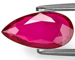 Mozambique Ruby, 2.00 Carats, Purplish Red Pear
