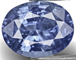 GIA Certified Sri Lanka Blue Sapphire, 7.86 Carats, Intense Blue Oval