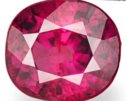 Mozambique Ruby, 0.52 Carats, Intense Pinkish Red Oval