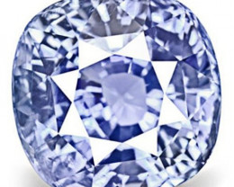 GIA Certified Sri Lanka Blue Sapphire, 6.03 Carats, Vivid Blue Cushion