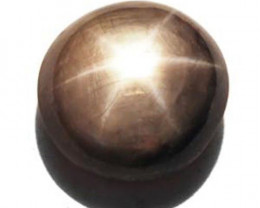 Sierra Leone Fancy Star Sapphire, 8.31 Carats, Golden Grey Round
