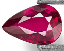 Mozambique Ruby, 0.37 Carats, Deep Red Pear