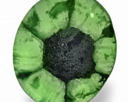 Colombia Trapiche Emerald, 11.31 Carats, Medium Green Oval