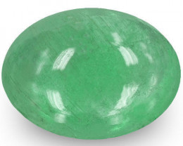Zambia Emerald, 2.38 Carats, Light Green Oval