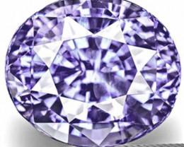 IGI Certified Burma Fancy Sapphire, 6.99 Carats, Vivid Bluish Violet Oval
