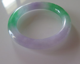 NEW ARRIVAL CERTIFIED GRADE A JADE/JADEITE BANGLE  58mm