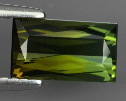 1.50 CTS-ALLURING TOP GREEN PARTY COLOR GREEN TOURMALINE OCTAGON CUT!!!