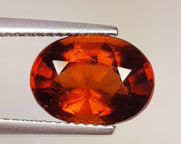 4.49 Ct Top Luster Excellent Oval Cut Natural Hessonite Garnet