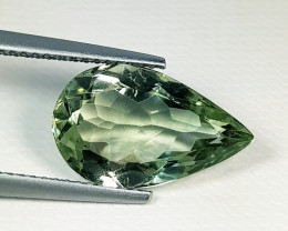 """5.35 ct """" Top Quality Gem """" Pear Natural Green Amethyst"""