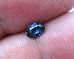 0.44cts Natural Australian Blue Sapphire Oval Cut