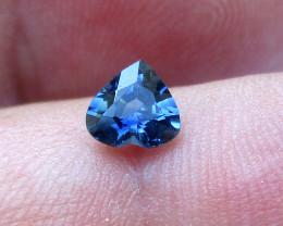 0.53cts Natural Australian Blue Sapphire Heart Shape