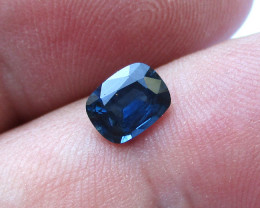 0.95cts Natural Australian Blue Sapphire Cushion Cut