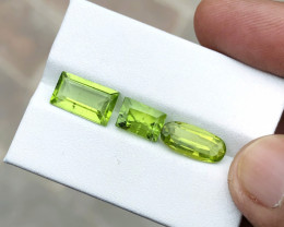 6.70 Ct Natural Greenish Yellow Transparent Peridot Gems Parcels